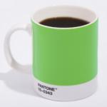 Pantone green mug